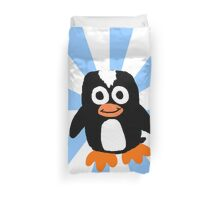 Penguin Sunburst  Duvet Cover