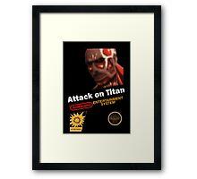 Attack On Titan - NES Framed Print