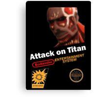 Attack On Titan - NES Canvas Print