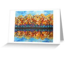 Autumn Leaves Reflection  Greeting Card