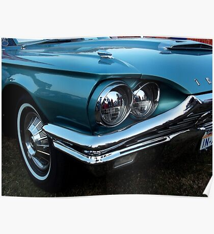 Retro Ford Thunderbird Closeup Poster