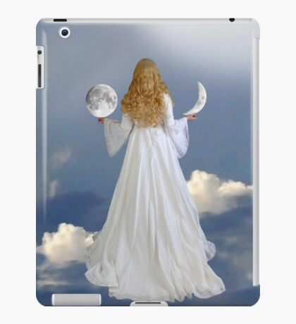 grant me a wish and I will offer you two moons... iPad Case/Skin