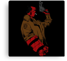Hellboy Profile Canvas Print