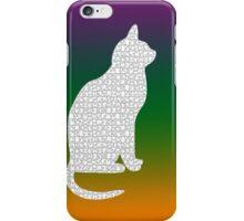 White kitty iPhone Case/Skin