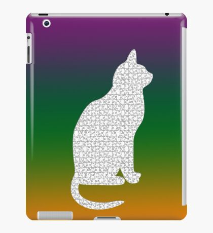 White kitty iPad Case/Skin