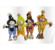 Halloween Scarecrows Poster