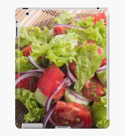 Fragment of vegetarian salad from fresh vegetables closeup iPad Case/Skin