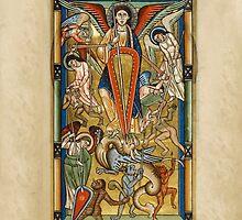 Saint Michael Battling the Dragon (1170 AD) by SexyCodicology