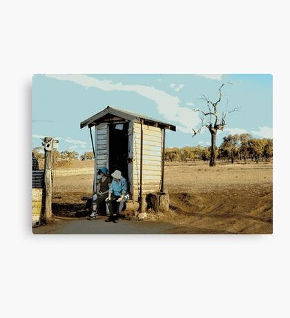 THERES NO PAPER, OUTBACK DUNNY Canvas Print