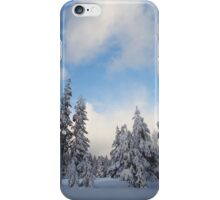 Snow-flocked Trees iPhone Case/Skin
