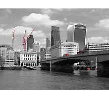 Red Buses, London Bridge Photographic Print