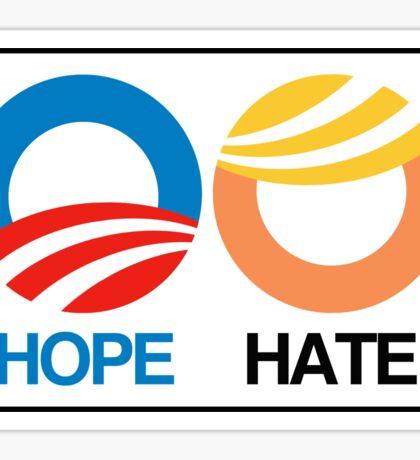Hope vs. Hate Sticker