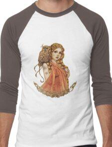 Blodeuwedd Owl Maiden Men's Baseball ¾ T-Shirt