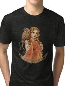 Blodeuwedd Owl Maiden Tri-blend T-Shirt