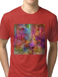 Magnetic Abstraction (Square Version) - By John Robert Beck Tri-blend T-Shirt