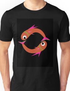 Orange cute fishes Unisex T-Shirt