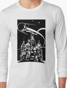 Space Ship over Castle Long Sleeve T-Shirt