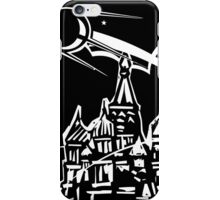 Space Ship over Castle iPhone Case/Skin