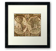Old World Map  Framed Print