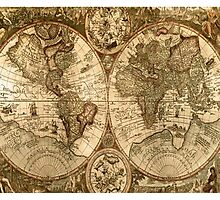 Old World Map  Photographic Print