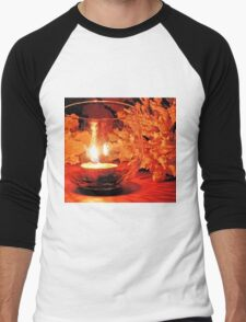 silent candle..silent night... Men's Baseball ¾ T-Shirt
