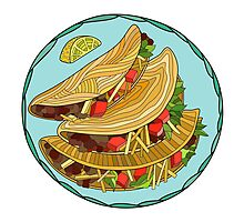 Tacos Illustration Photographic Print