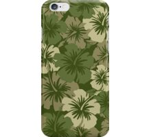 Epic Hibiscus Hawaiian Floral Aloha Shirt Print - Olive Green iPhone Case/Skin