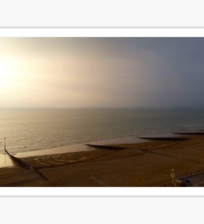 Eastbourne Empty Beach Views Sticker
