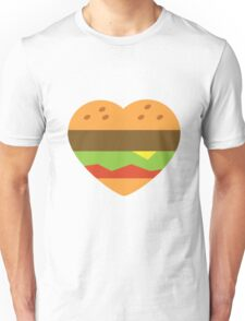 I heart burgers Unisex T-Shirt