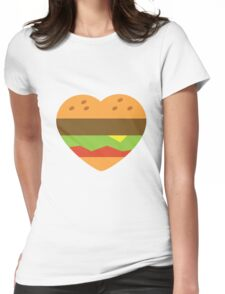 I heart burgers Womens Fitted T-Shirt