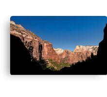 Kayenta Trail Panorama - Zion National Park  Canvas Print