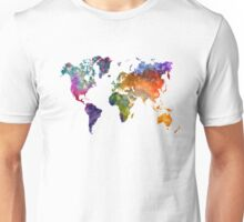 World map in watercolor 26 Unisex T-Shirt