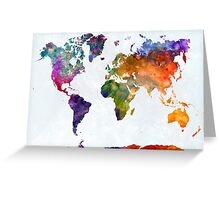 World map in watercolor 26 Greeting Card