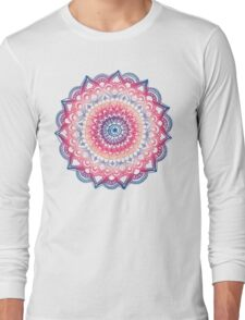 Ocean Sunset Mandala Long Sleeve T-Shirt