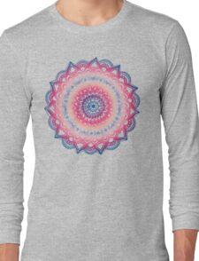 Ocean Sunset Mandala Long Sleeve T-Shirt