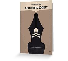 No486 My Dead Poets Society minimal movie poster Greeting Card