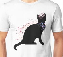 Cat With Flowers Unisex T-Shirt