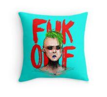 Fuk Off Throw Pillow