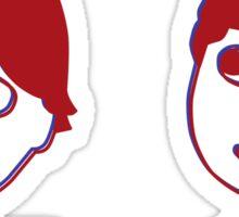 Red/Blue Doodle Sticker