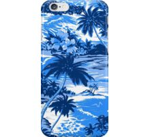 Napili Bay Scenic Hawaiian Aloha Shirt Print - Blue iPhone Case/Skin