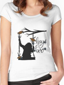 To Kill A Mockingbird, inspired silloette - Hey, Boo. Women's Fitted Scoop T-Shirt