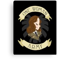 one woman army Canvas Print