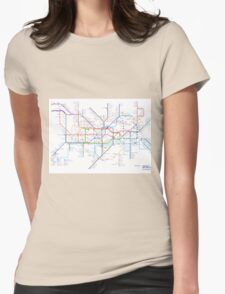 London Underground Tube Map as Anagrams Womens Fitted T-Shirt