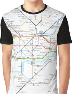 London Underground Tube Map as Anagrams Graphic T-Shirt