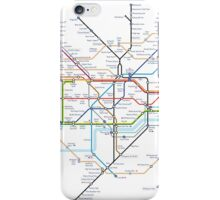 London Underground Tube Map as Anagrams iPhone Case/Skin