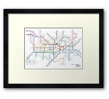 London Underground Tube Map as Anagrams Framed Print