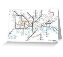 London Underground Tube Map as Anagrams Greeting Card