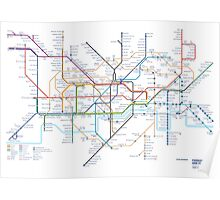 London Underground Tube Map as Anagrams Poster