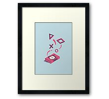 ElectroVideo Playstation (Pink and Blue) Framed Print