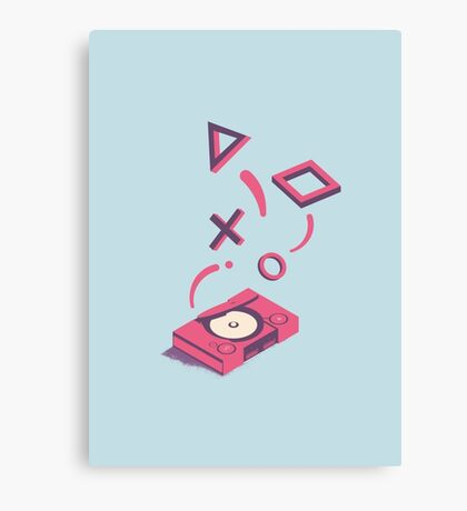 ElectroVideo Playstation (Pink and Blue) Canvas Print